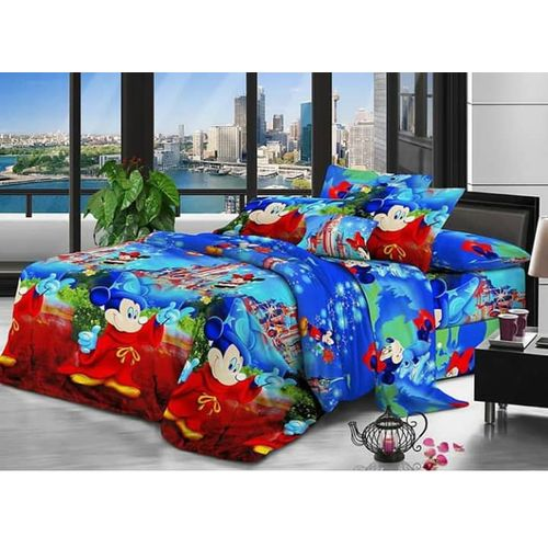 Cartooned Design Bedsheet 4 By 6 With 2 Pillowacases