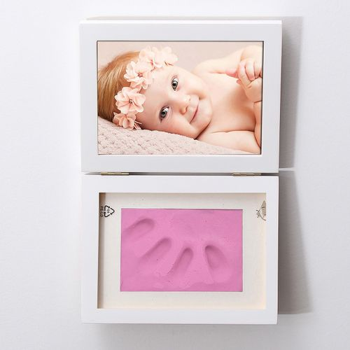 Photo Frame Hand Foot Print DIY Cast Set Picture With Soft Clay Exquisite Decor For Baby Kid Birthday Party Event Gift