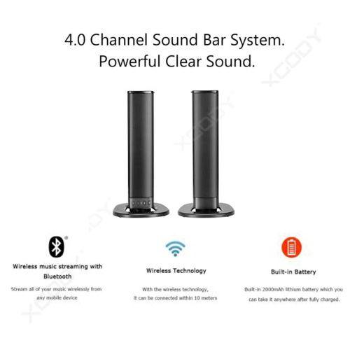 Bluetooth Detachable Stereo Dual Speaker With Strong Bass Wireless TV Soundbar