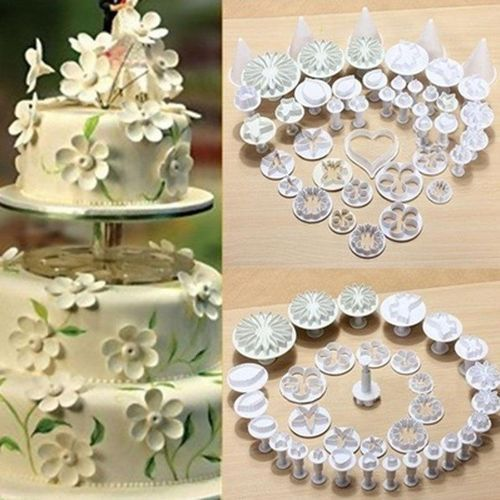 33 Pcs Cake Fondant Sugar Craft Flower Mold Mould Kit Sugar Art DIY Decor Baking Tool