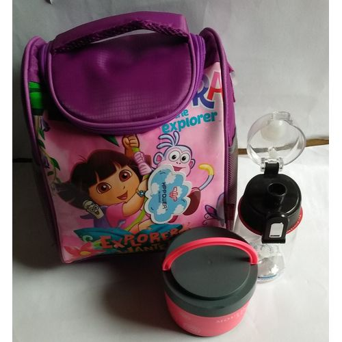Dora Lunch Bag + Small Kiddies Food Flask And Water Bottle