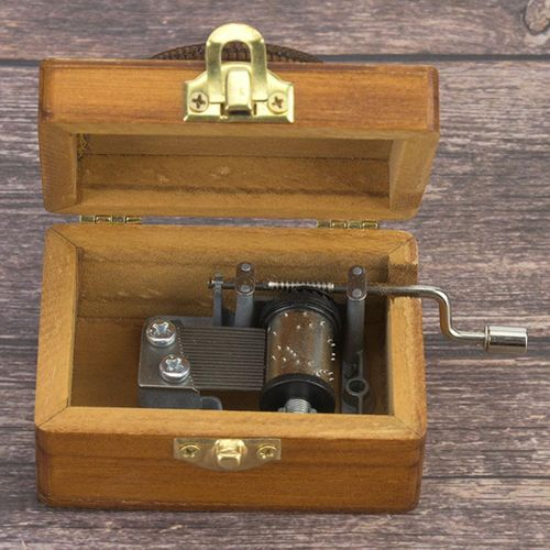 Popular Pretty Wooden Music Box Hand Crank Music Box Boutique Home Decoration Gift Christmas / Birthday / Valentine's Day Gift