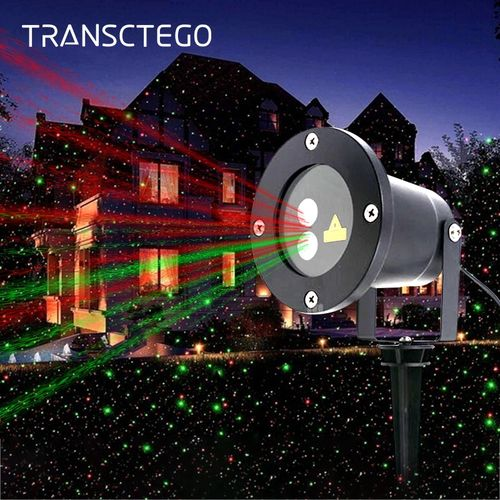 Christmas Lawn Projector Light Outdoor Led Laser Light Waterproof Garden Spotlight Holiday Landscape Yard Decoration Party Lamps QLANA