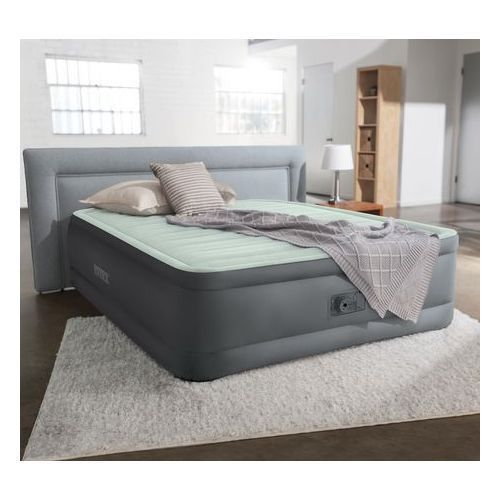 """Queen Premaire I Inflatable Airbed With Built-in Pump, 18"""""""
