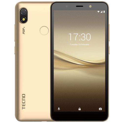 "POP 3 (BB2) 5.7"" Screen, 16GB ROM + 1GB RAM, Android 8.1 Oreo, 8MP + 5MP Camera, 3500mAh, Fingerprint & Face ID - Gold"