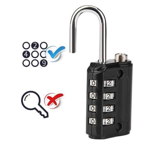 4-Digit Combination Password Lock Zinc Alloy Luggage Padlock Coded Lock Anti Theft