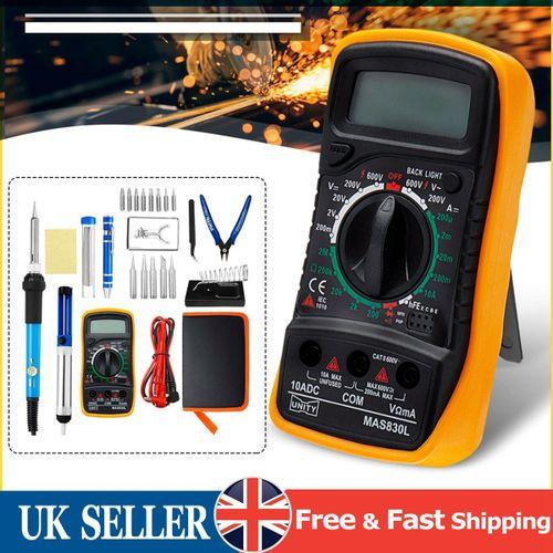 60W 220V Electric Adjustable Soldering Iron Welding Digital Multimeter Tool