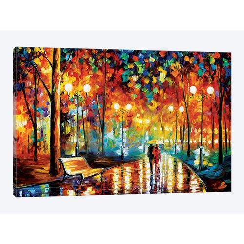 Rain's Rustle Painting Canvas Print
