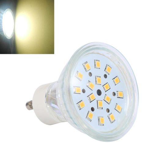 GU10 LED Bulb, 3W 120 Degree Beam Angle 260 Lumens 18 LEDs Spot Light Lamp Track Lighting