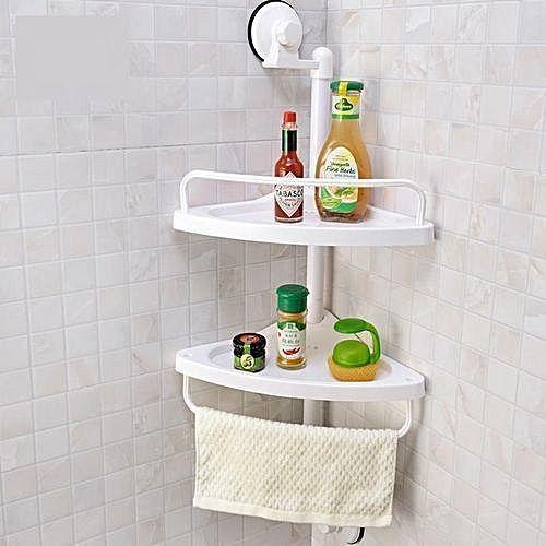 Bathroom Corner Shelf With Magic Suction Cup