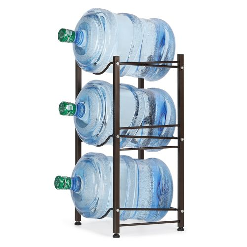 3 Layer Water Cooler Rack Bottle Storage Rack Assembly Black