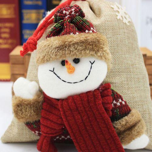 Plush Christmas Tree Hanging Gift Candy Handbag Decoration