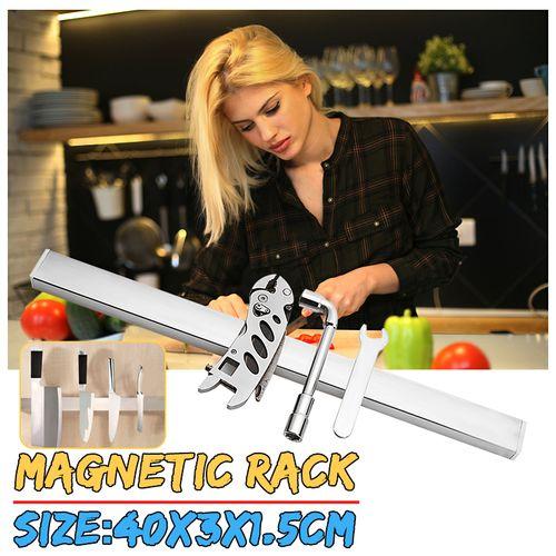 40cm Magnetic Holder Rack Storage Strip Kitchen Utensil Tool Bar Wall Mounted