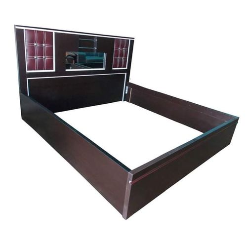 Superb 6 × 6 Bed Frame With Leather Head Board + Free Ottoman (Delivery Only To Lagos Customers)