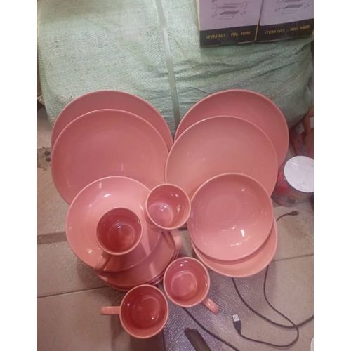 16 Pcs Ceramics Dinner Set - Orange