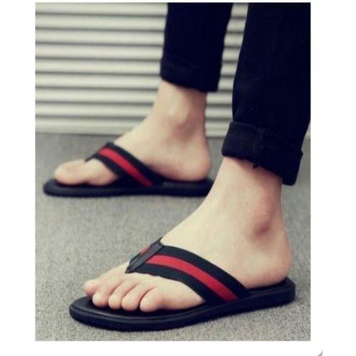 Simple Men's Slippers - Black