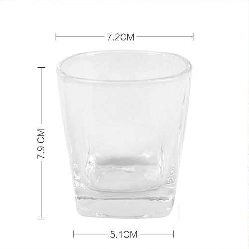 6 Whiskey Cups Low Form 170ml Wine Glass