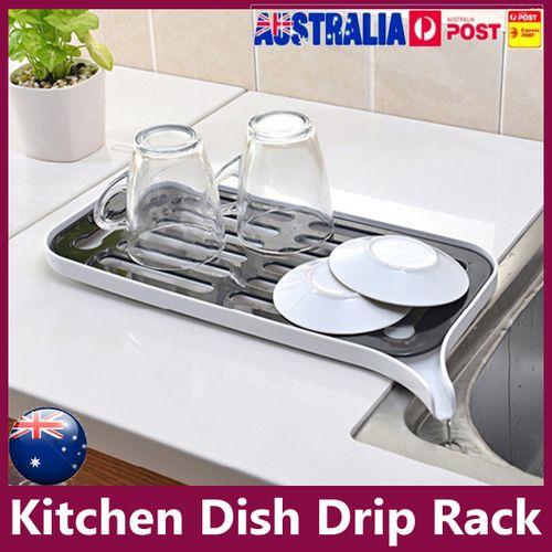 Kitchen Dish Drainer Drip Tray Rack Board Sink Drying Holder Washing Up Bowl UK