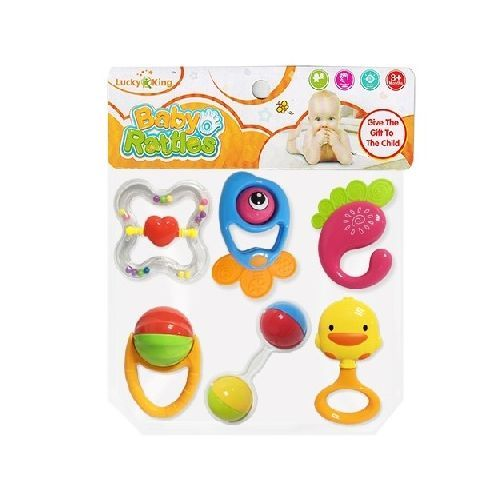 6in1 Baby Rattle/Teether Set