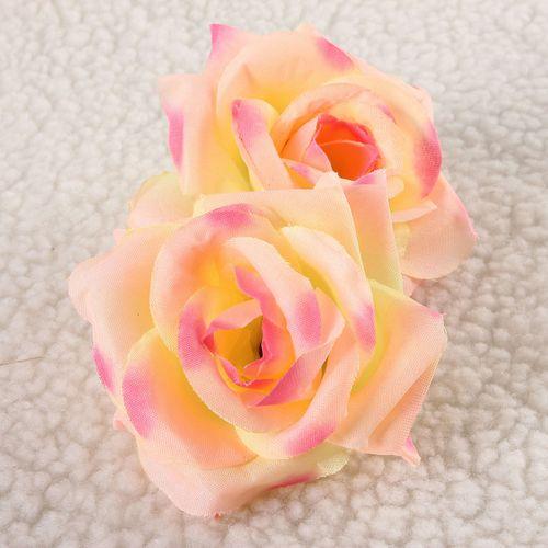10X Artificial Rose Silk Flower Head Wedding Party Home Car Decoration
