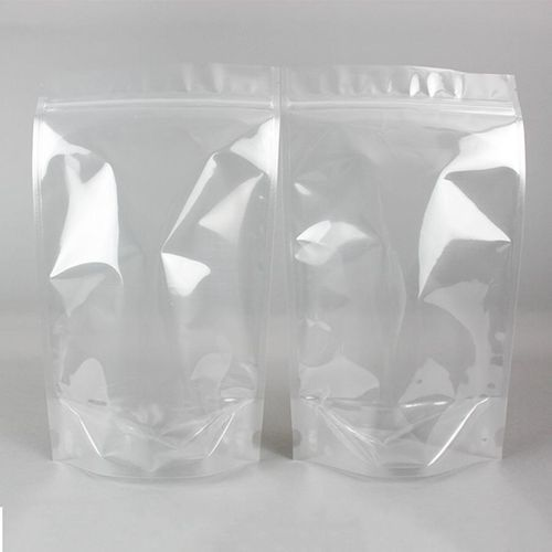 100pcs Transparent Resealable Stand-Up Pouch