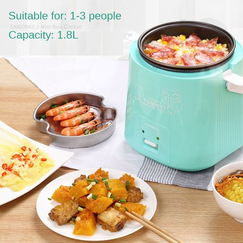 AUGIENB 300W 1.8L Smart Multi Rice Cooker Steamer Cooking