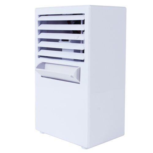Houseworkhu Portable Air Conditioner Fan Mini Evaporative Air Circulator Cooler Humidifier -white