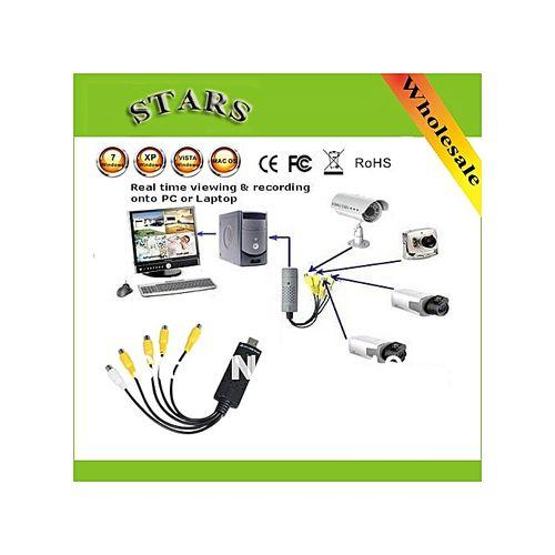 4 Channel USB 2.0 Video Capture Card Of DVR CCTV Digital Vid
