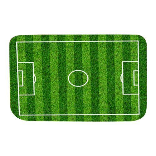 Modern Green Shade Football Field Pattern Polyester Non-slip Door Mat Foot Pad Bathroom Living Room Absorbent Doormat