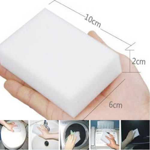 Houseworkhu 20PCS Magic Sponge Eraser Cleaning Melamine Multi-functional Foam Cleaner -White