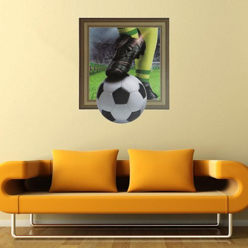 3D Play Football Soccer World Cup Removable Wall Decal Sticker Mural Home Decor 45*60CM