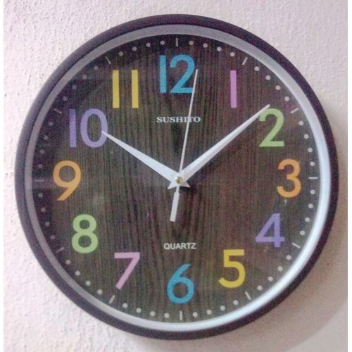 ROUND CUTELY DESIGNED WALL CLOCK