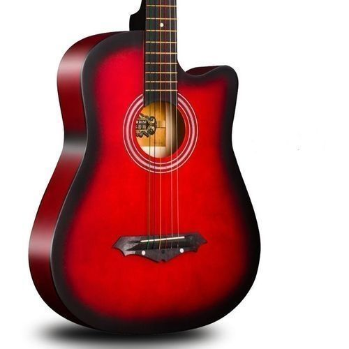 Acoustic Box Guitar With Bag And Strap - Redburst38''or39''