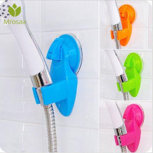 1 Pcs Mrosaa Powerful Suction Type Shower Head Holder Movable Bracket Bathroom Seat Chuck Holder Shower Fixed Bracket 4 Colors