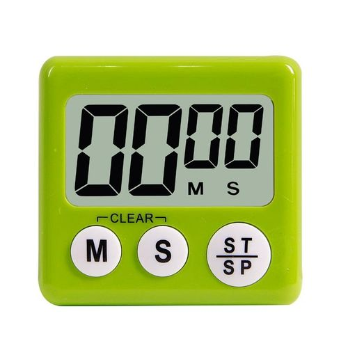 Multifunction Digital Kitchen Cooking Timer With Switch To Adjust Volume Countdown With Big Digits Loud Alarm Automatic Shutdown # Green