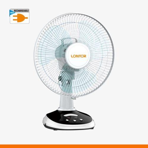 Lontor 12-Inch Rechargeable Table Fan