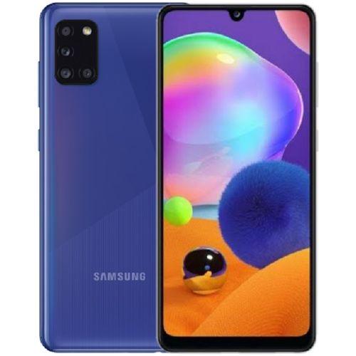 """Galaxy A31 (128GB, 4GB RAM) 6.4"""" FHD + 4 Rear Camera (48+5+8+5)MP,+ 20MP, 5000mAh, Dual SIM 4G LTE - Prism Crush Blue"""