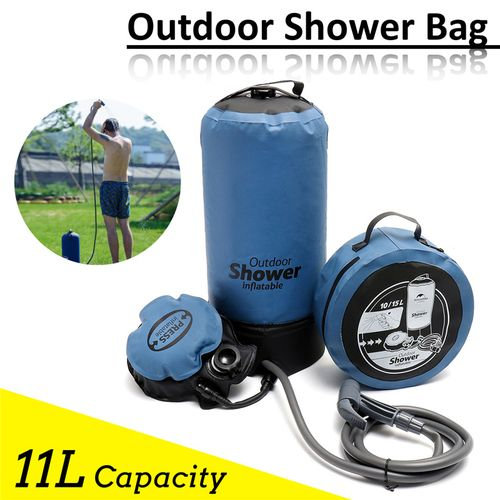 11L Outdoor Shower Bag Portable Bathing Bag Folding Camping Water Storage