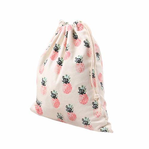 Pineapple Printing Drawstring Beam Port Storage Bag Travel Bag Gifts Bag