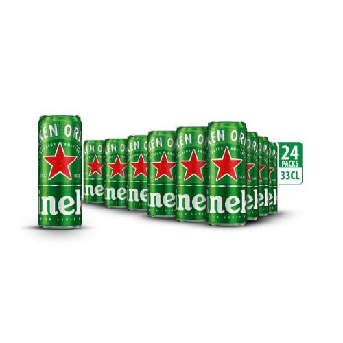 Lager Beer - 33cl Sleek Can X 24