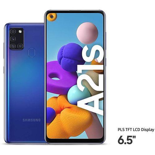 """Galaxy A21s 6.5"""" - 48MP -Dual Sim - 4GB RAM - 64GB - 4G LTE - Blue"""