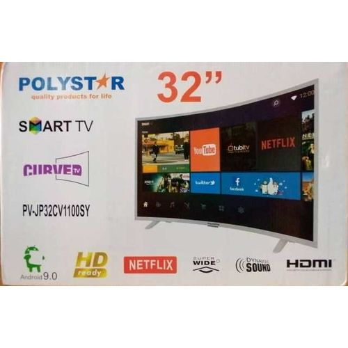 32-Inches Smart Curved TV With Netflix (1year Warranty)