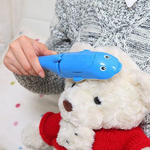 Electrostatic Cleaning Brush Micro Dust Brush For Sticky Hair In The Shape Of A Blue Dolphin