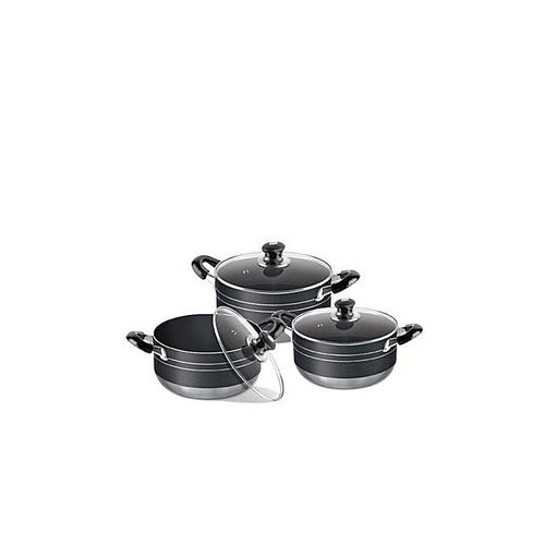 Non-stick Pots With Induction Bottom - 3 Sets