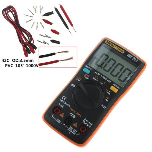 Aneng An8009 High-Precision Digital Multimeter Display With Nvc Orange