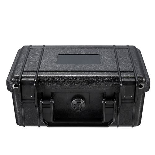 210x165x85mm Waterproof Hard Tool Case Bag Storage Box With Sponge Black Carry Camera Lens Photography Toolbox Portable Suitcase