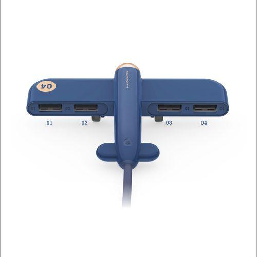 3life USB Expander Creative Aircraft Hub Data One Trailer Four Divider