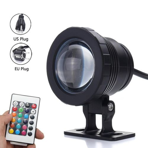 4*10W RGB LED Underwater Spot Light IP68 Waterproof Pond Aquarium Lamp+Controller EU