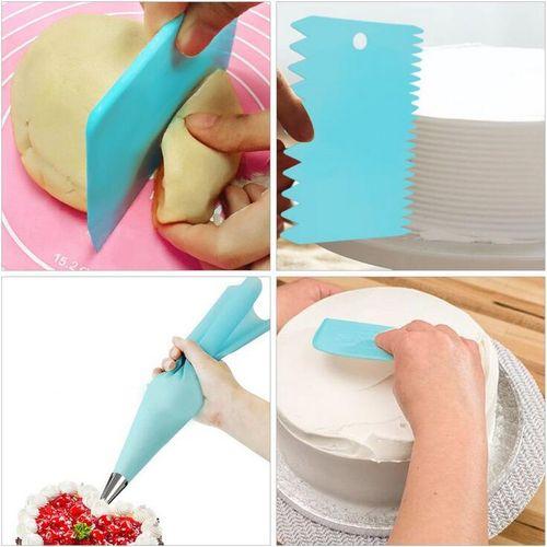 74 Pcs Silicone Icing Piping Pastry Bag Nozzle DIY Cake Baking Decora