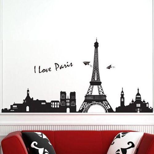 Eiffel Tower Paris Wall Sticker Art Mural Wall Removable Wallpaper